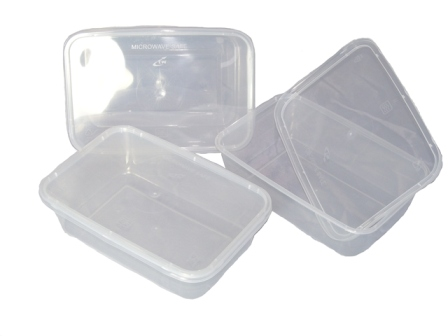 100 X Plastic 650ml Microwave Food Takeway Containers